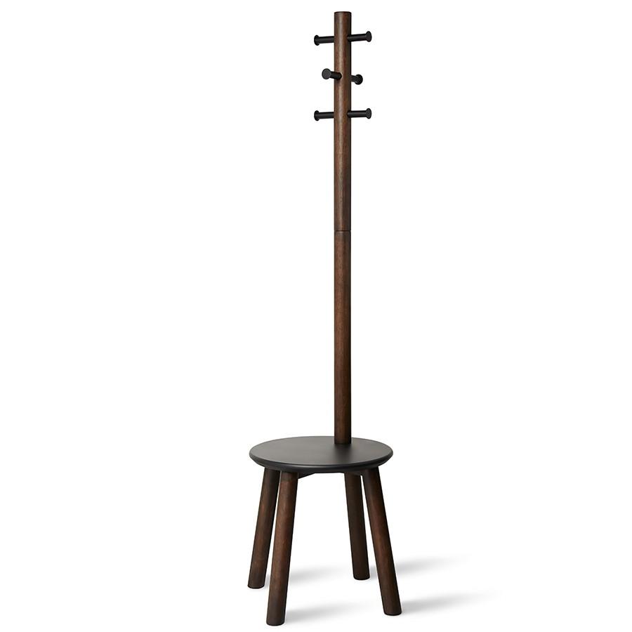 Табурет со встроенной вешалкой  Umbra Pillar Stool/Coatrack Black (11014257-048)