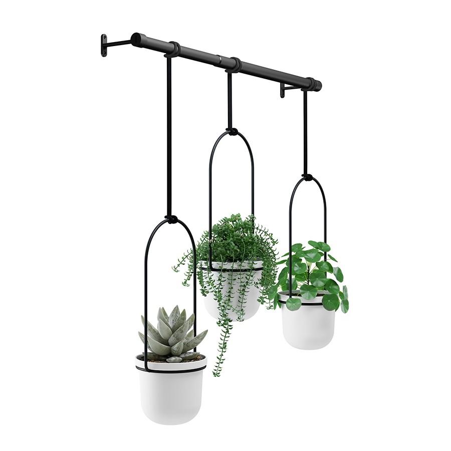 Комплект горшков для растений подвесной Umbra Triflora Hanging Planter White (1011748-660)