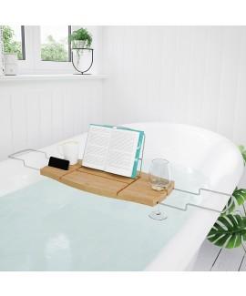 Полка для ванной дерево Umbra Aquala Bathtub Caddy Natural (020390-390)
