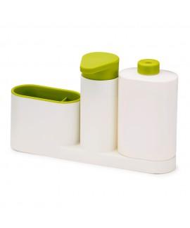 Органайзер для раковины с дозатором для мыла и бутылочкой SinkBase Plus