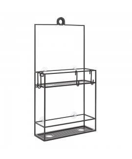 Полка-органайзер для душа Umbra Cubiko Shower Caddy Black (023461-040)