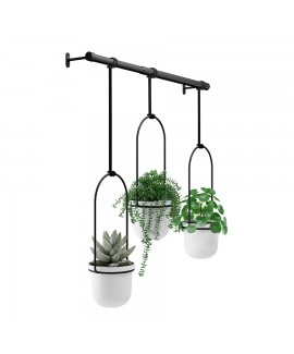 Комплект горшков для растений подвесной Umbra Triflora Hanging Planter White (1011748-660)