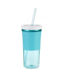 Склянка з соломкою Shake&Go 540 мл